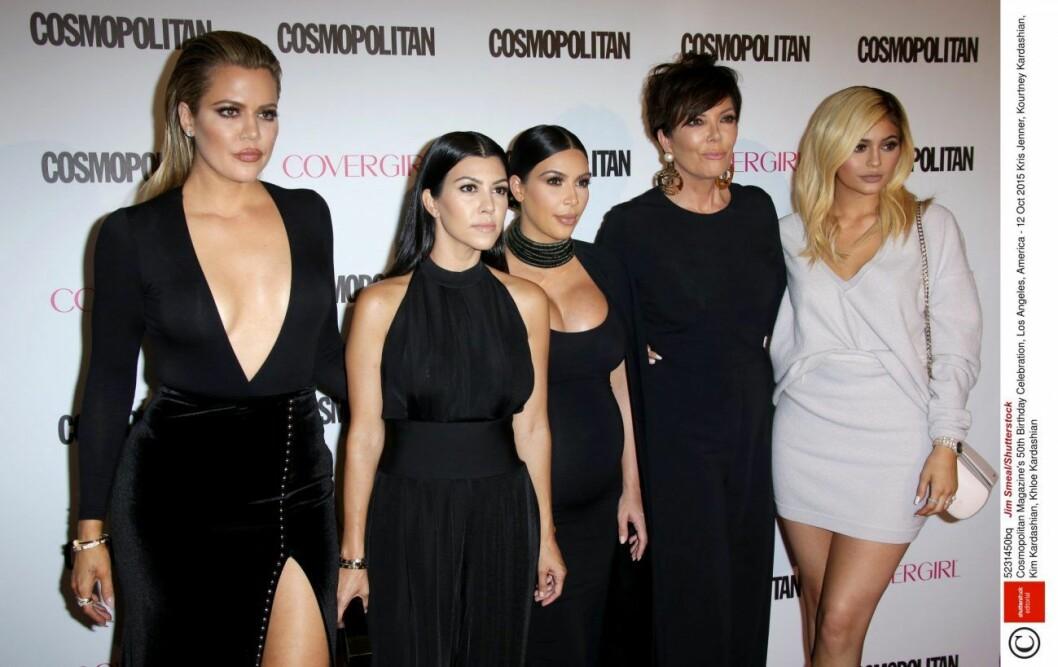 Familjen Kardashian på röda mattan