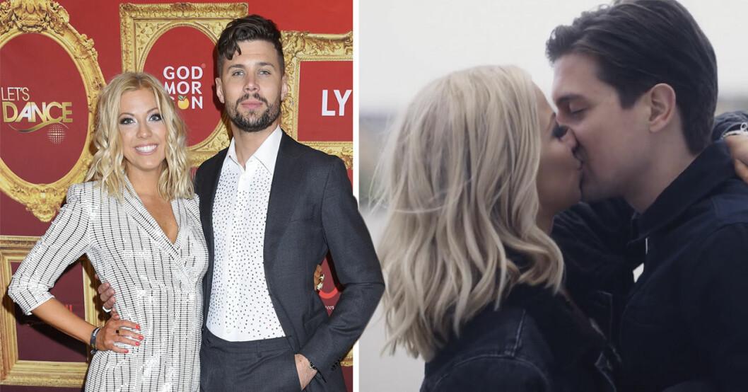 Sigrid Bernson kysser en kille i sin musikvideo