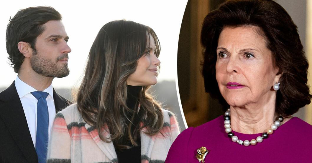 Drottning Silvia berättar om oron över prinsparets insjuknande