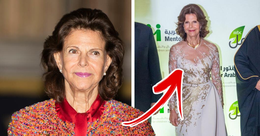 Magiska bilderna på drottning Silvia under resan