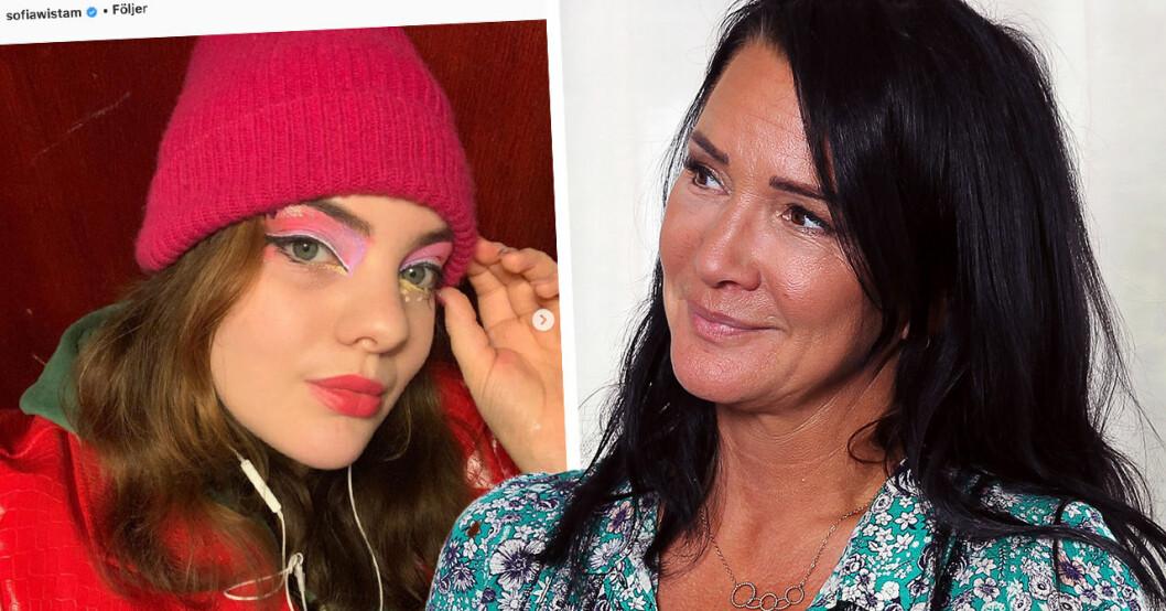 Sofia Wistams dotter Sindy bryter tystnaden efter sjukdomsbeskedet