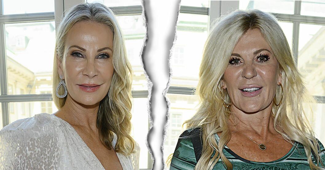 Det har uppstått en spricka mellan Siv Cotton och Maria Montazami i Svenska Hollywoodfruar