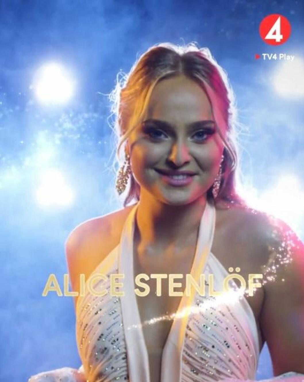 Alice Stenlöf är en av deltagarna i Let's dance 2020