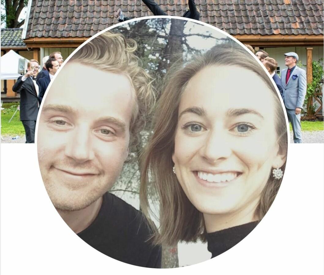 Fredrik Skavlans son Georg är gift med Johanne Paasche. Faksimil från Facebook.