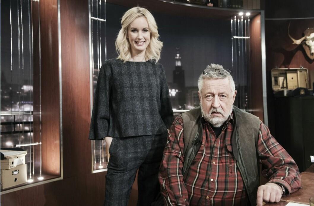 Jenny Strömstedt och Leif GW Persson har tidigare lett Brottsjournalen i TV4.