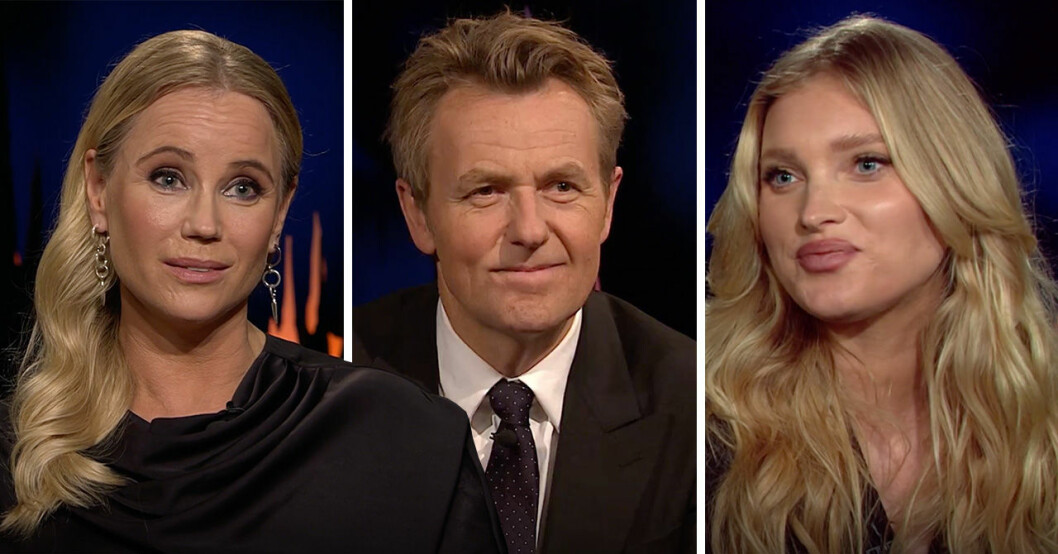 Sofia Helin, Fredrik Skavlan och Elsa Hosk.
