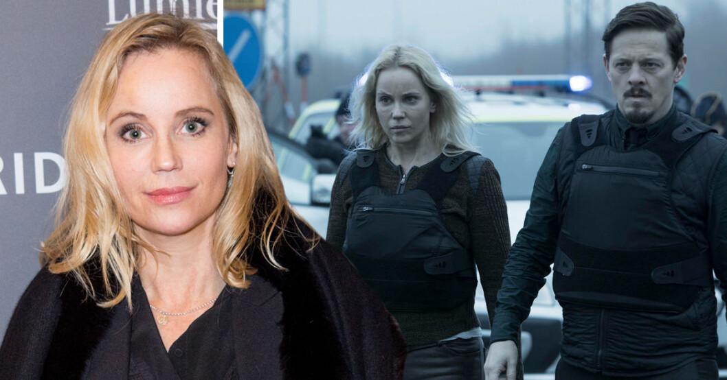 Sista avsnittet av SVT-succén Bron är inspelat. Sofia Helin tycker att det är skönt att hon slipper pendla mellan Stockholm och Danmark.