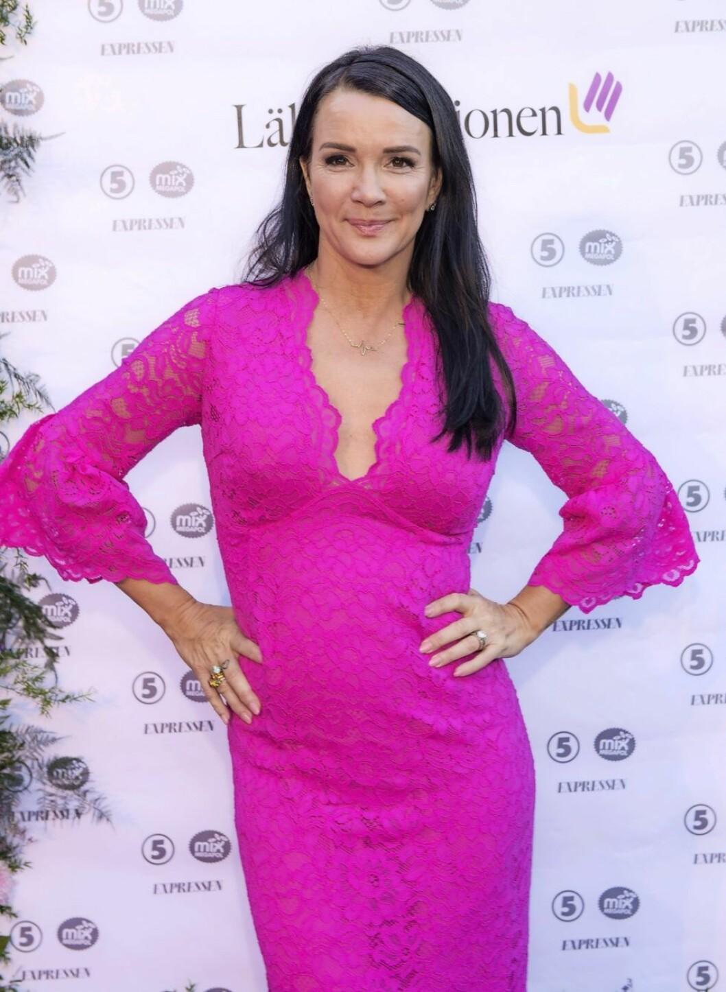 Sofia Wistam rosa klänning