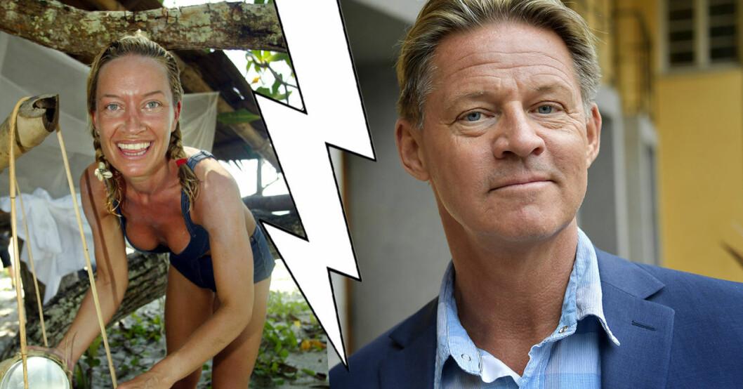 Soldoktorn Mikael Sandström och Robinson-Camilla Eggenberger.
