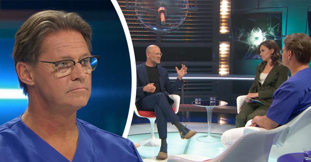 Mikael Sandströms ilska i TV4 efter Andreas Lundstedts ord