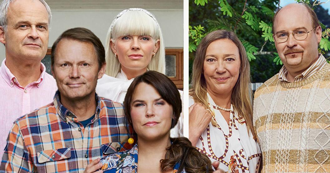 Solsidan-skådisarna Johan Rheborg, Felix Herngren, Josephine Bornebusch, Mia Skäringer, Henrik Dorsin och Malin Cederbladh.