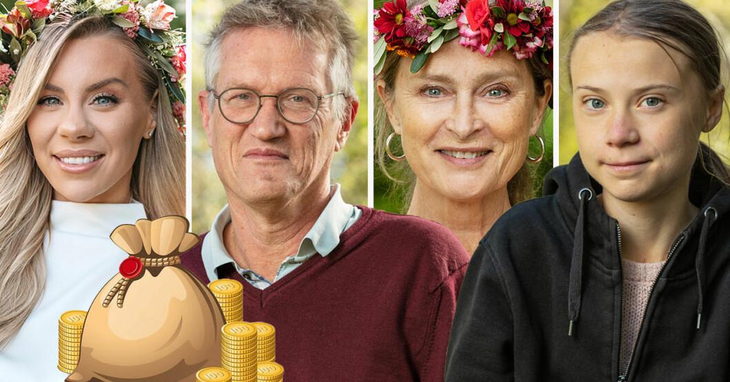 Therese Lindgren, Anders Tegnell, Lena Endre och Greta Thunberg är sommarpratare i P1.