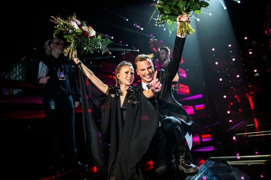 Mariette och Magnus Carlsson knep finalplatserna. Foto: Stella Pictures