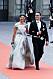 Kronprinsessan Victoria bar en långklänning från H&M under prins Carl Philips och Sofia Hellqvists bröllop. Foto: Stella Pictures