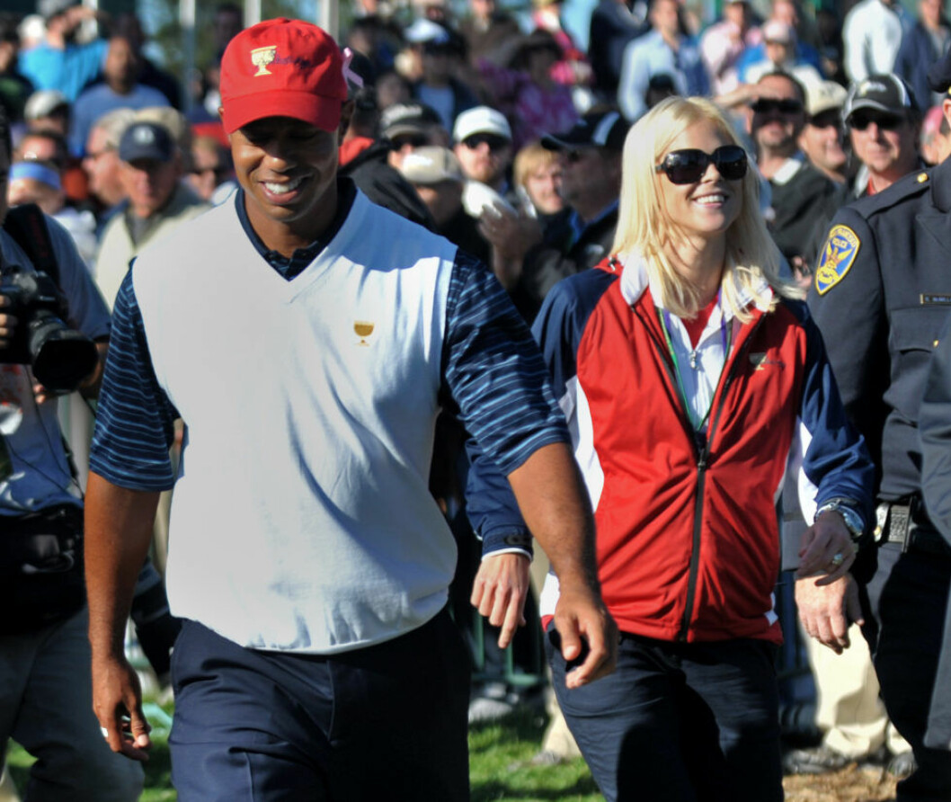 774261 Tiger Woods walks with his wife Elin Nordegren during the President Cup in San Francisco on October 9, 2009. Woods announced on December 11, 2009 that he will take an indefinite break from professional golf after rumors of alleged affairs with several women have surfaced. UPI/Kevin Dietsch/Files Photo: KEVIN DIETSCH/UPI Code: 4056/WAP20091214301 COPYRIGHT STELLA PICTURES Photo: KEVIN DIETSCH/UPI Code: 4056/WAP20091214301 COPYRIGHT STELLA PICTURES