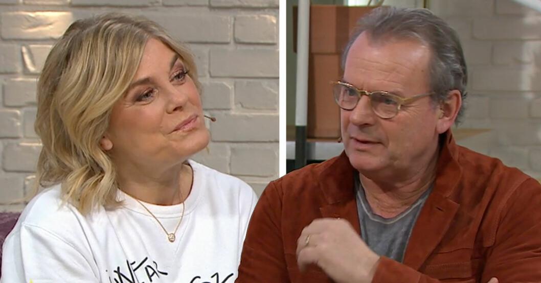 Steffo Törnquist Pernilla Wahlgren Nyhetsmorgon