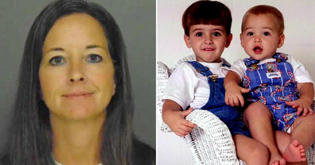 Susan Smith och sönerna hon dödade.