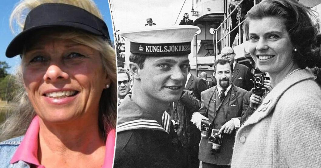 Suzanne Färm-Hagström, kung Carl Gustaf och hans syster Margaretha.