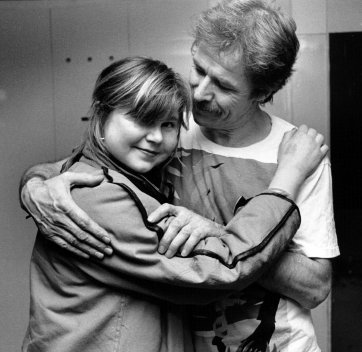 Sven Wollter och dottern Ylva.