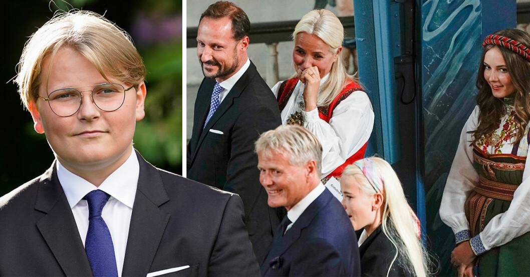 Prins Sverre Magnus av Norge får hålla sig i bakgrunden.