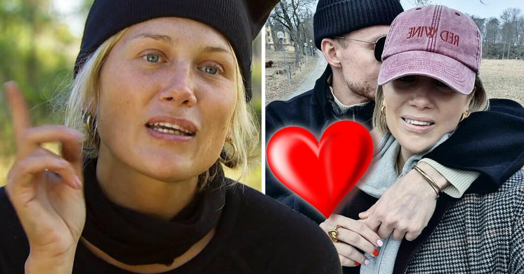 Joanna Swica med hemliga pojkvännen.