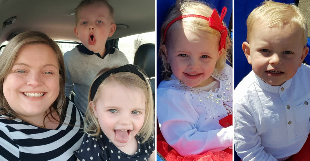 Stephanie Karté är mamma till Jackson, 5, och Skye, 4. Många tror att de är tvillingar.