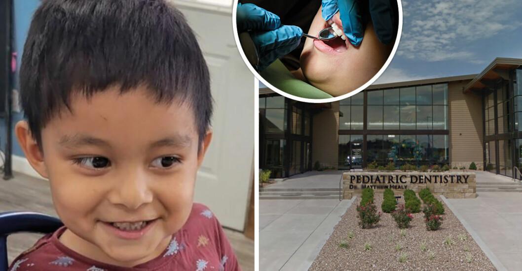 En treåriga pojken Abiel Valenzuela Zapata dog efter ett rutinbesök hos tandläkaren.