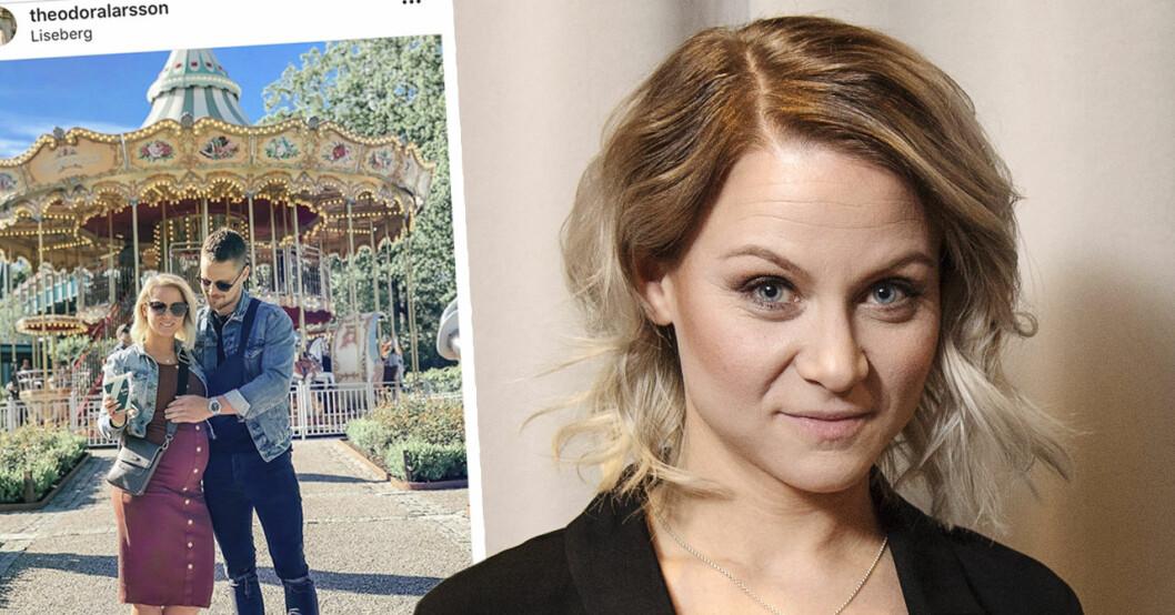 """Antons oro efter gravida Theodora Larssons ord om förlossningsplanen: """"Fick panik"""""""