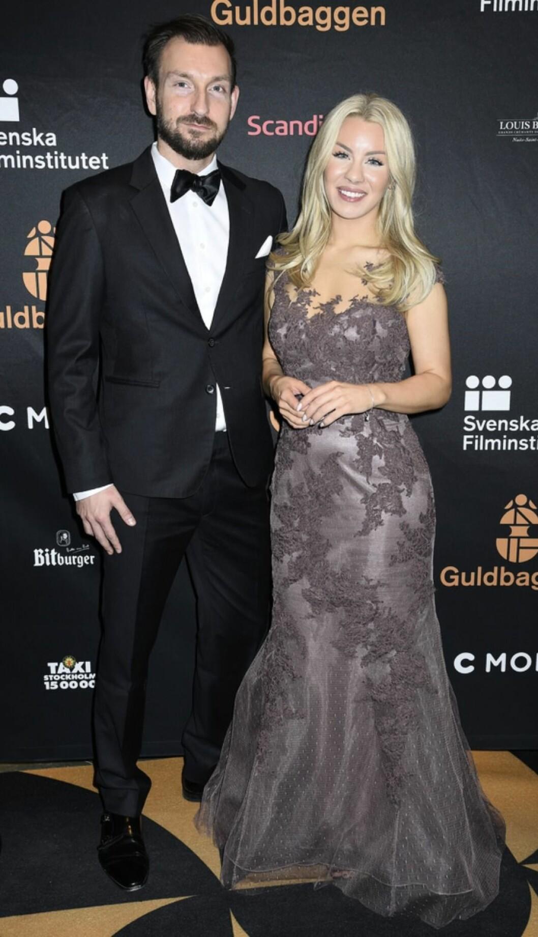 Anders Vesterlund och Therése Lindgren på GUldbaggegalan 2017