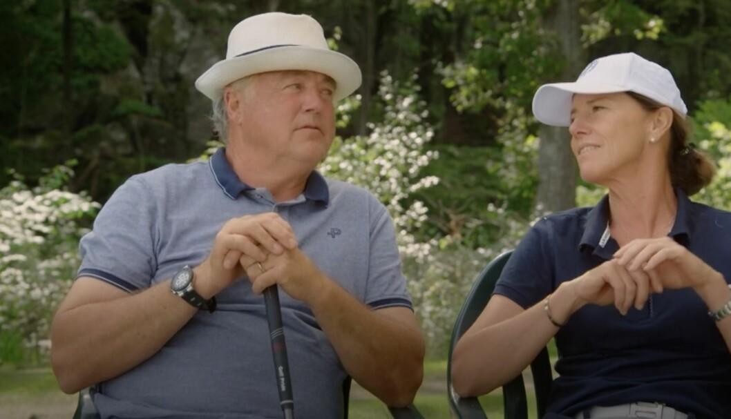 """Golfproffset Helen Alfredsson och hockeyproffset Kent """"Mr Magic"""" Nilsson"""