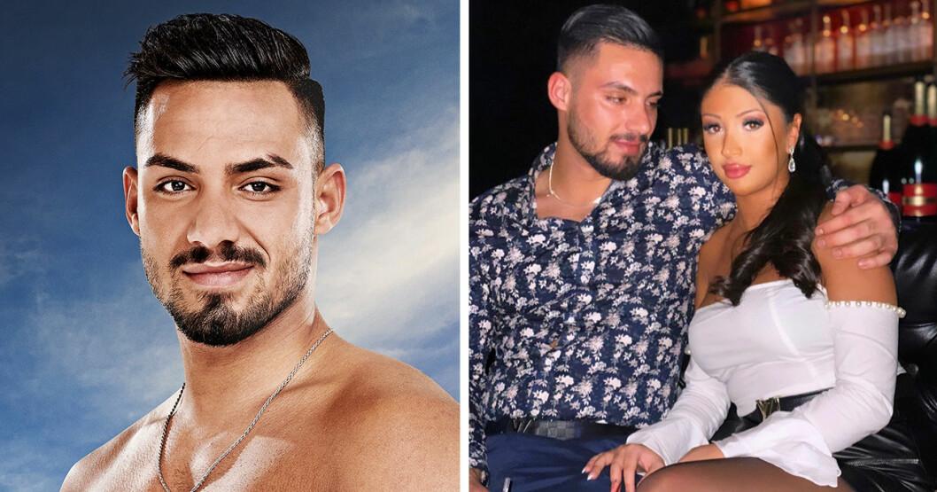 Tola Mohammed i Ex on the beach 2019 och med flickvännen Melissa.