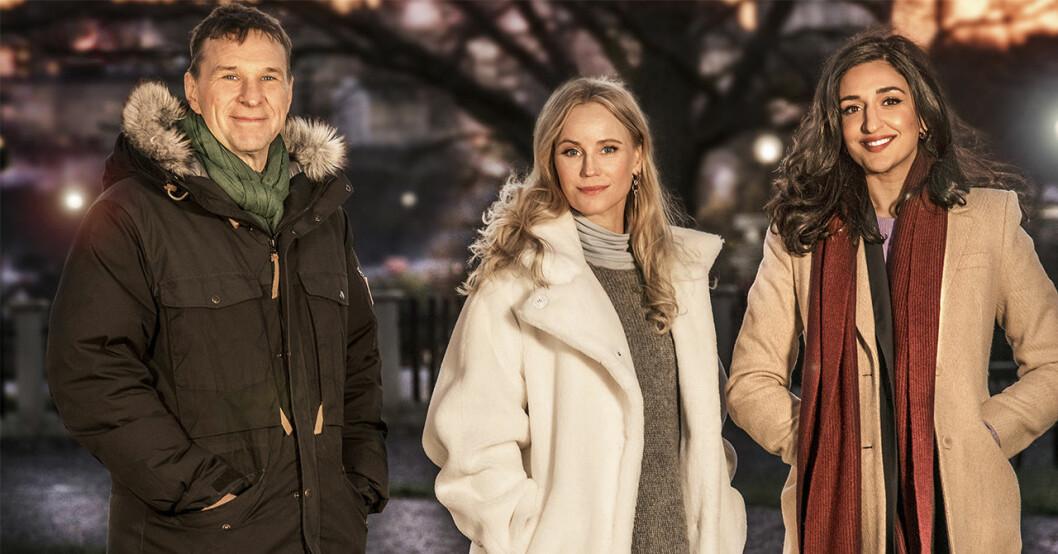 Anders Lundin, Sofia Helin och Parisa Amiri