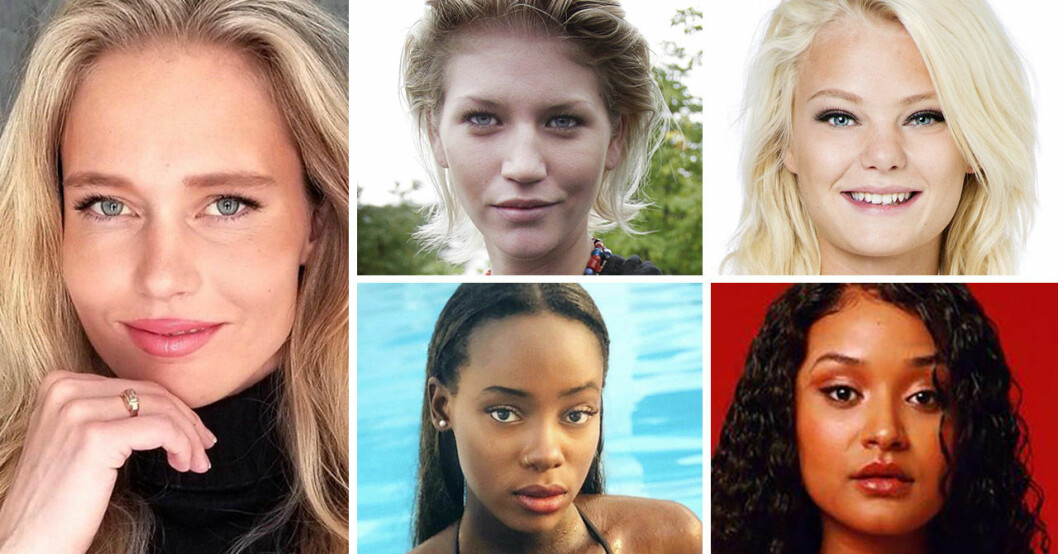 Sophie Angner, Anna Maria Moström, Ellinor Bjurström, Awa Touray och Feben Negash har alla varit med i Top Model Sverige.