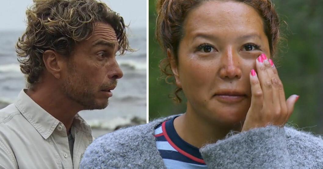 Anders Öfvergård och Tova-Sophia Aronsson i Robinson 2021.