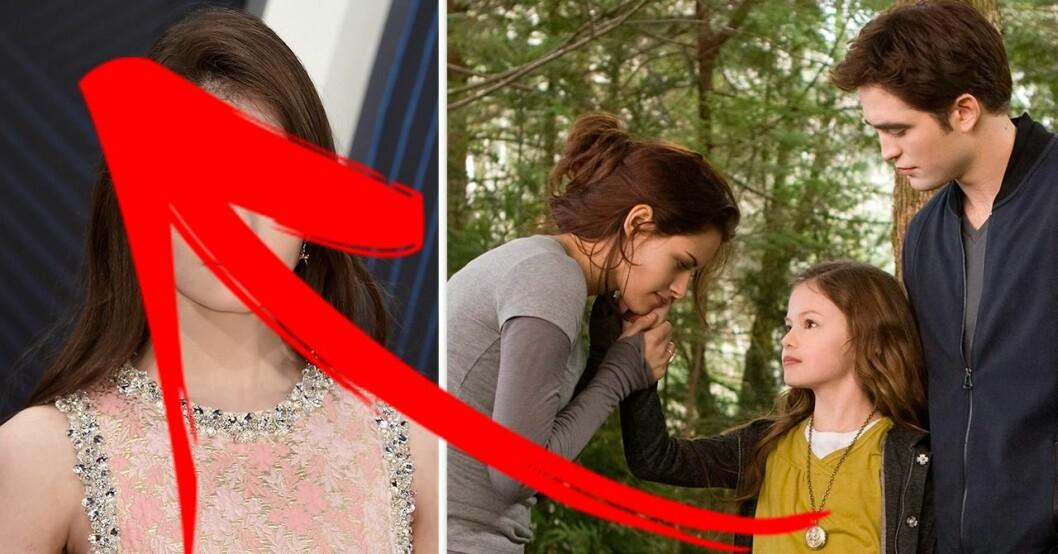 Twilight-karaktärerna Bella, Edward och Renesmee