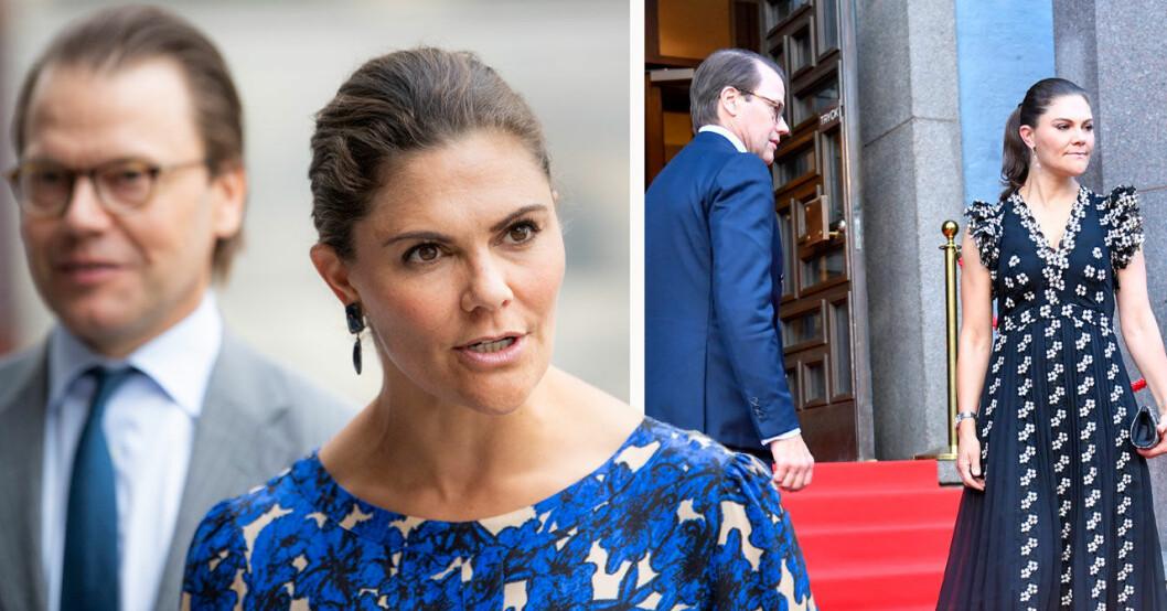 Kronprinsessan Victoria och prins Daniel på Kungliga Filharmonikernas säsongsöppning i Konserthuset