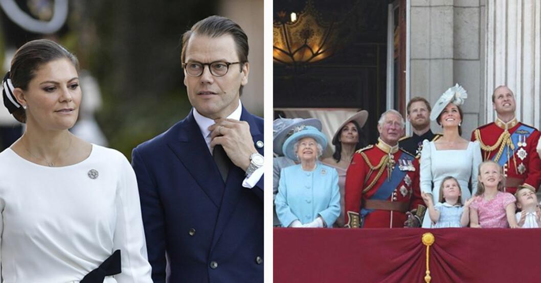Victoria nobbar prins Charles 70-årsfest