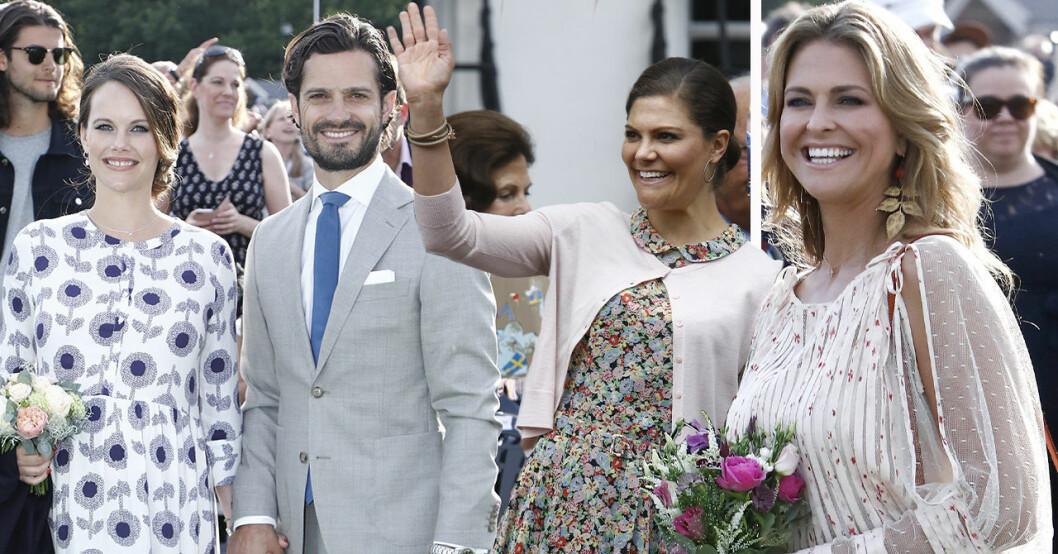 Sveriges prinsessor ler mot kameran under Victoriadagen