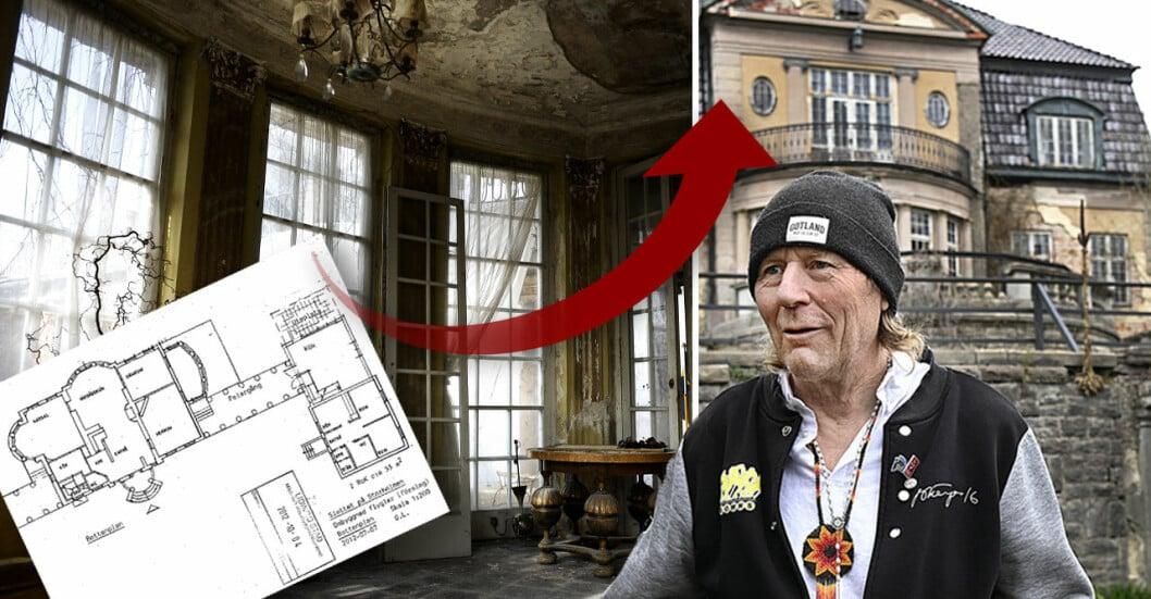 Tio år innan bråket om slottet på Storholmen bröt ut fanns en hemlig plan för att rädda det förfallna palatset.