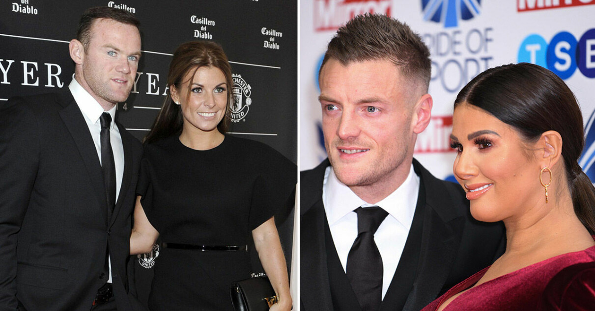 Wayne och Coleen Rooney, samt Jamie och Rebekah Vardy.