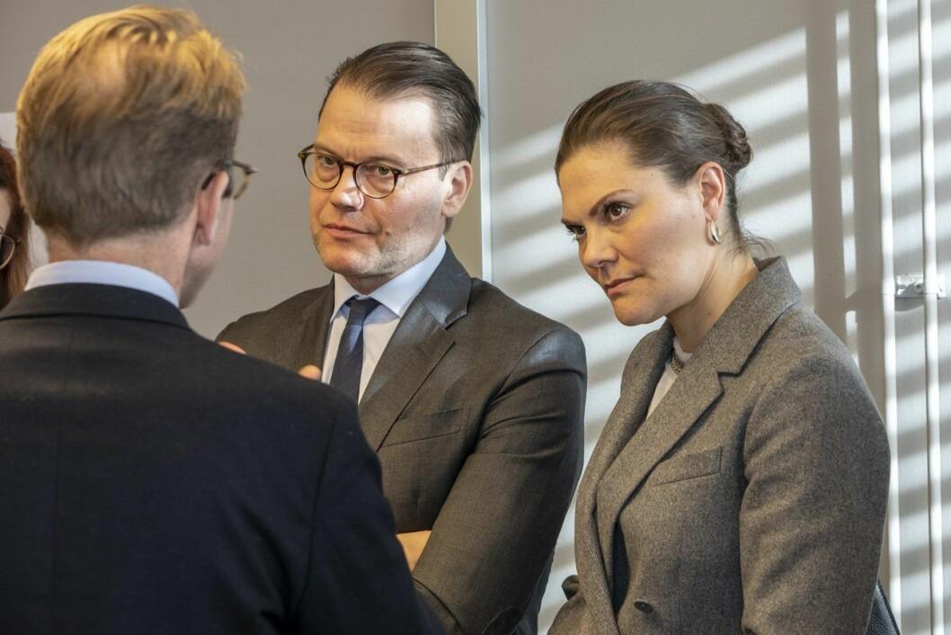 Kronprinsessan Victoria och prins Daniel på Region Stockholm