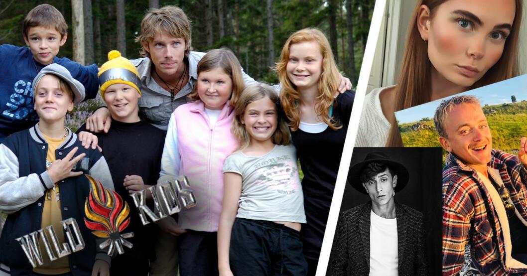 Wild Kids 2007, några av barnen med Ola Lindholm.