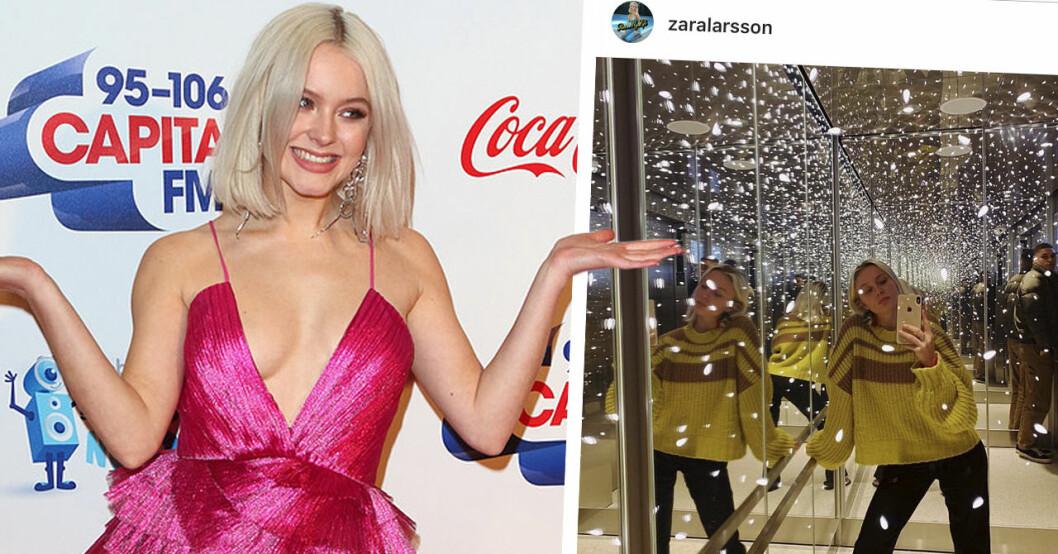 Zara Larssons bild på Instagram får alla att skratta.