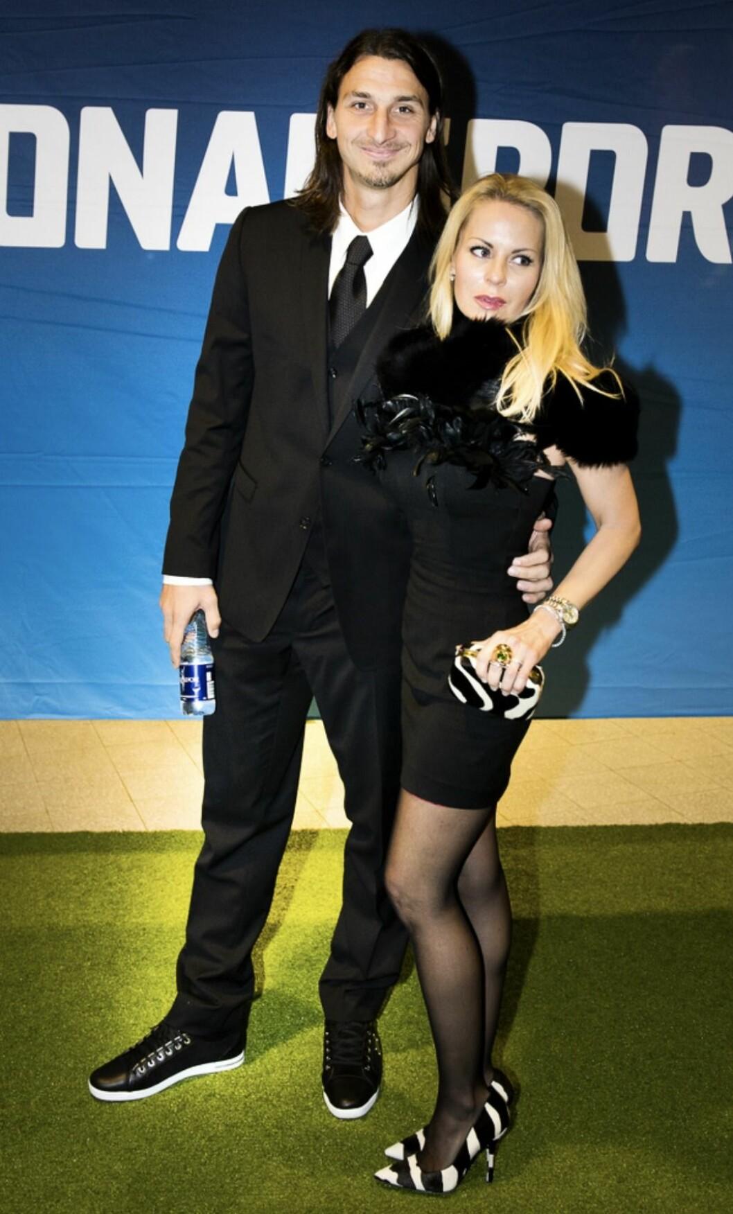 Zlatan Ibrahimovic och Helena Seger Fotbollsgalans röda matta 2011